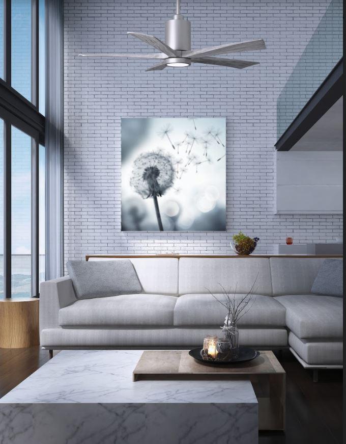 ventilateur de plafond en bois patricia avec lumiere