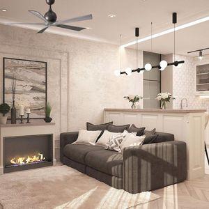 ventilateur plafond moteur dc salon