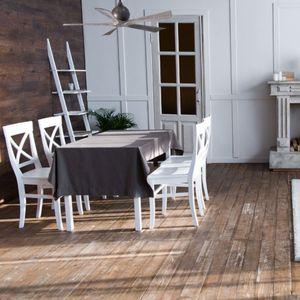 ventilateur plafond 5 pales table à manger salon
